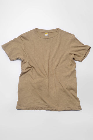VELVA SHEEN - Crewneck T-Shirt in Olive