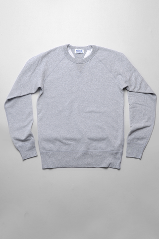 VELVA SHEEN - 10oz Raglan Sweatshirt in Heather Grey