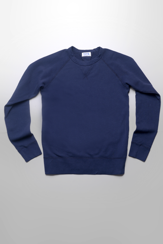 VELVA SHEEN - 10oz Raglan Sweatshirt in Navy