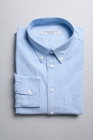 BROOKLYN TAILORS - Classic Cambridge Oxford- Blue
