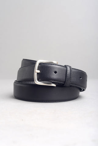 FINAL SALE: BROOKLYN TAILORS - Dress Belt in Black with Nickel
