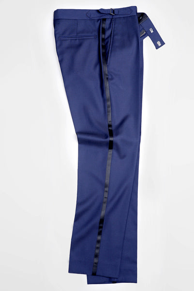 BROOKLYN TAILORS - BKT50 Tuxedo Trouser in Navy Super 110s