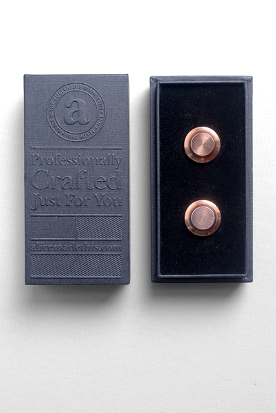 ALICE MADE THIS - Edward Cufflinks in Copper