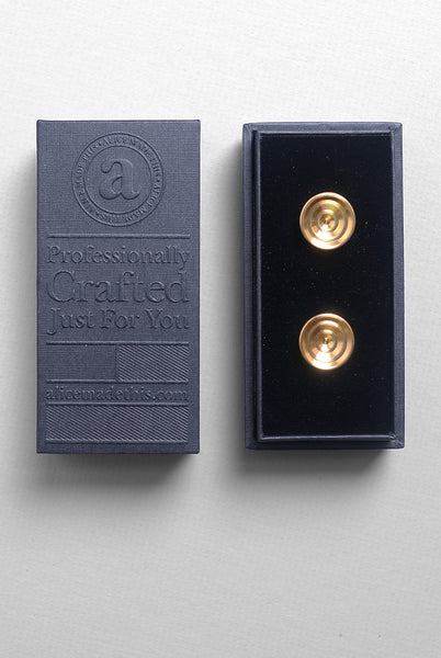 ALICE MADE THIS - Lucas Cufflinks in Brass