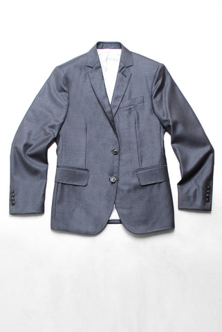 BROOKLYN TAILORS - Full Canvas Tailored Jacket - Charcoal Twill Super 110s