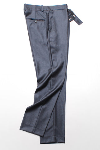 BROOKLYN TAILORS - Tailored Trouser - Charcoal Twill Super 110s