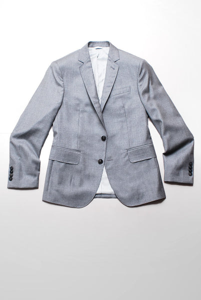 BROOKLYN TAILORS - BKT50 Suit Jacket in Super 110s Dove Gray Twill