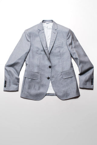 BROOKLYN TAILORS - Full Canvas Tailored Jacket - Dove Grey Twill Super 110s