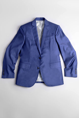 BROOKLYN TAILORS - Full Canvas Tailored Jacket - Bright Navy Twill Super 120s