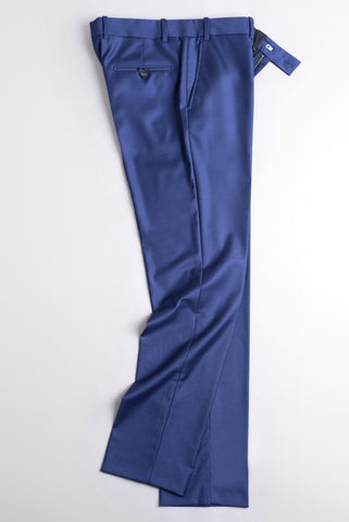BROOKLYN TAILORS- BKT50 Trouser in Super 120s Bright Navy Twill
