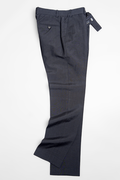 BROOKLYN TAILORS - BKT50 Trousers in Black Wool/Linen