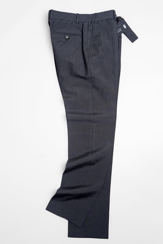 FINAL SALE: BROOKLYN TAILORS - BKT50 Trousers in Black Wool/Linen