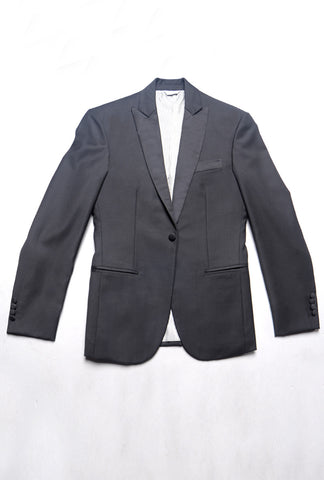 FINAL SALE - BROOKLYN TAILORS - Peaked Lapel Tuxedo Jacket 2016 Model - Black With Satin Lapel