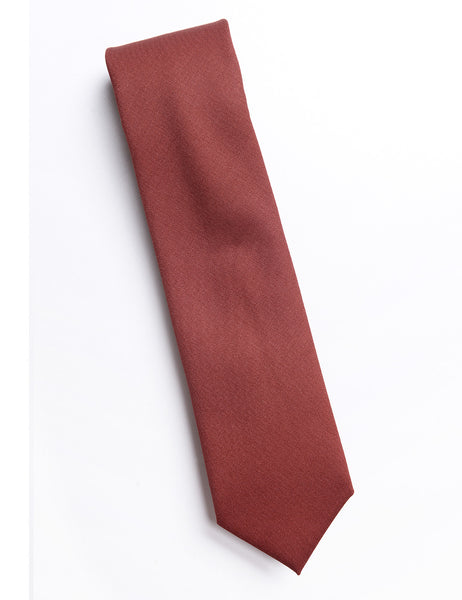 BROOKLYN TAILORS - Wool Twill Tie - Mahogany