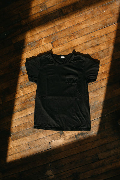WYTHE NEW YORK - Tubular Pocket Tee in Deep Black