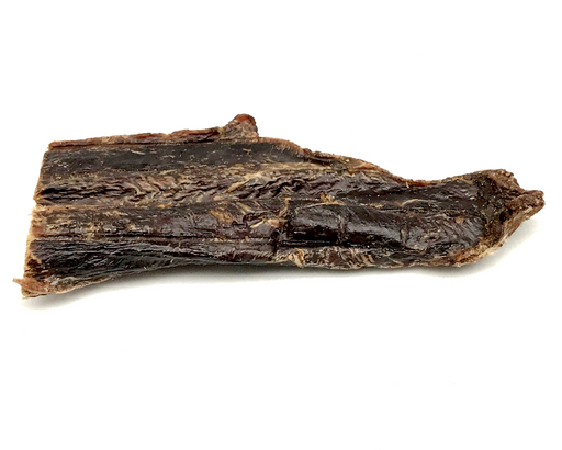 Beef Jerky dog treat. Dehydrated, slow oven dried treat. Suitable as a training treat. snax.pet