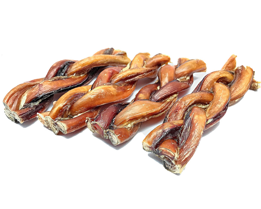 Braided Bully Sticks. All Natural Pet Treats. Available to purchase from snax.pet