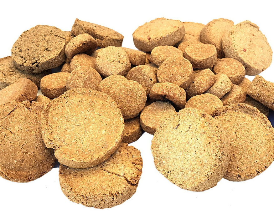 Dog biscuits, standard size, and mini's. Dogs love biscuits as treats. snax.pet