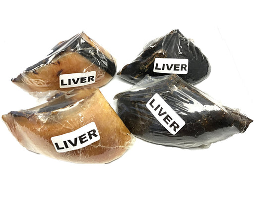 Liver coated beef cow hooves. Suitable as a chew for dogs. Buy online snax.pet