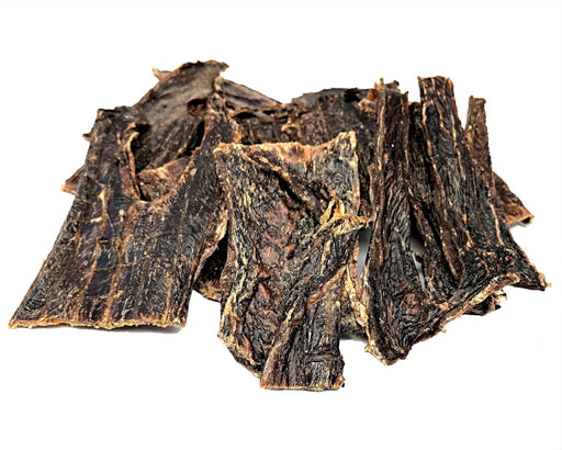 Beef Jerky dog treat. All natural dried pet treat. Suitable as a training treat. snax.pet