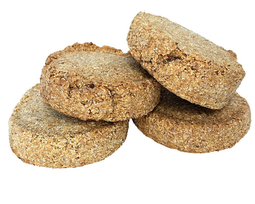 Chocolate carob dog biscuit standard size, dog treat. No dog biscuit recipe required. snax.pet