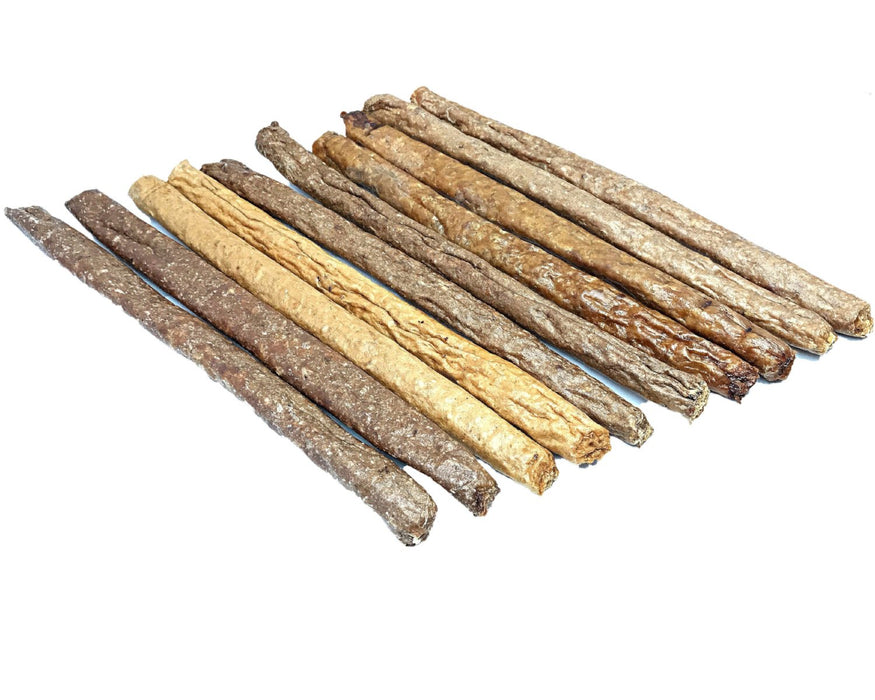 Smoked Salmon Quik Stix dog treat. Australian made, healthy pet treats, buy online snax.pet