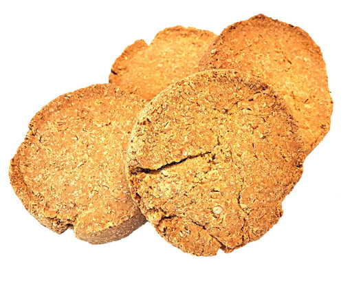 Peanut butter dog biscuit standard size, dog treat. No dog biscuit recipe required. snax.pet