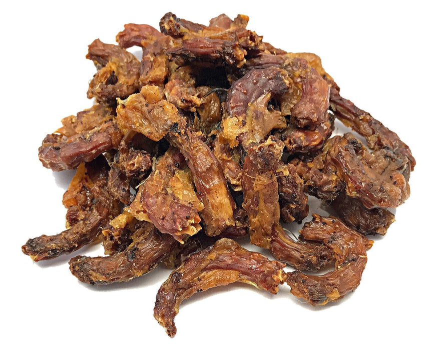 Quail Necks are very similar to chicken necks, but much smaller. Quail Neck Natural Pet Treats. Available online at snax.pet