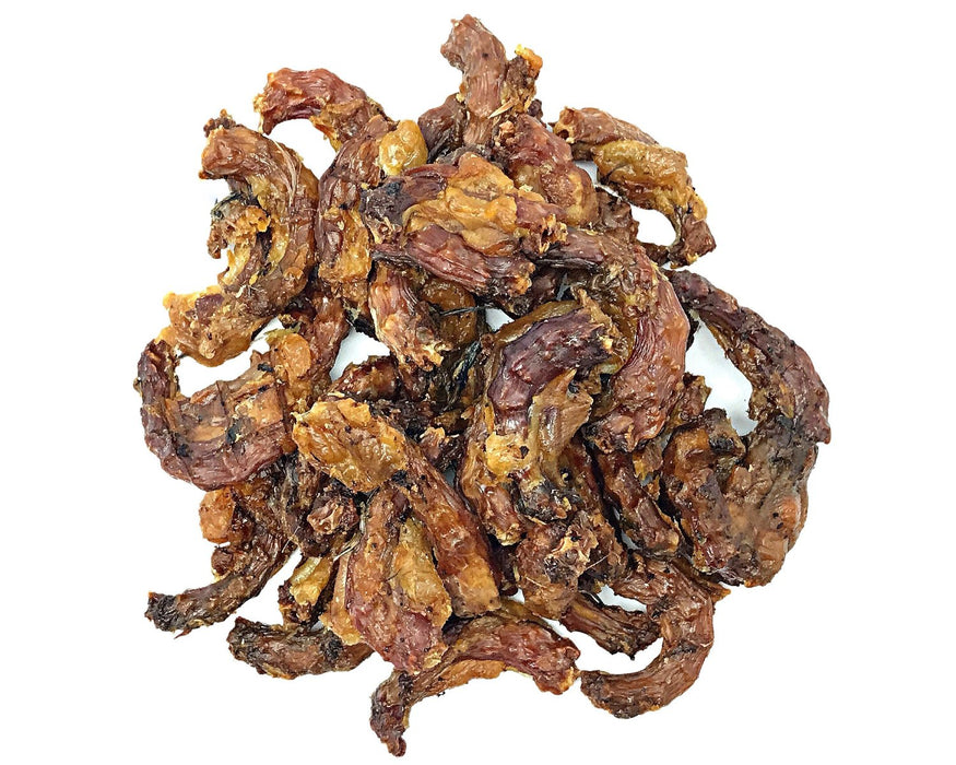 Quail Necks All Natural Pet Treat. Can be used as a training treat for dogs. Buy online at snax.pet