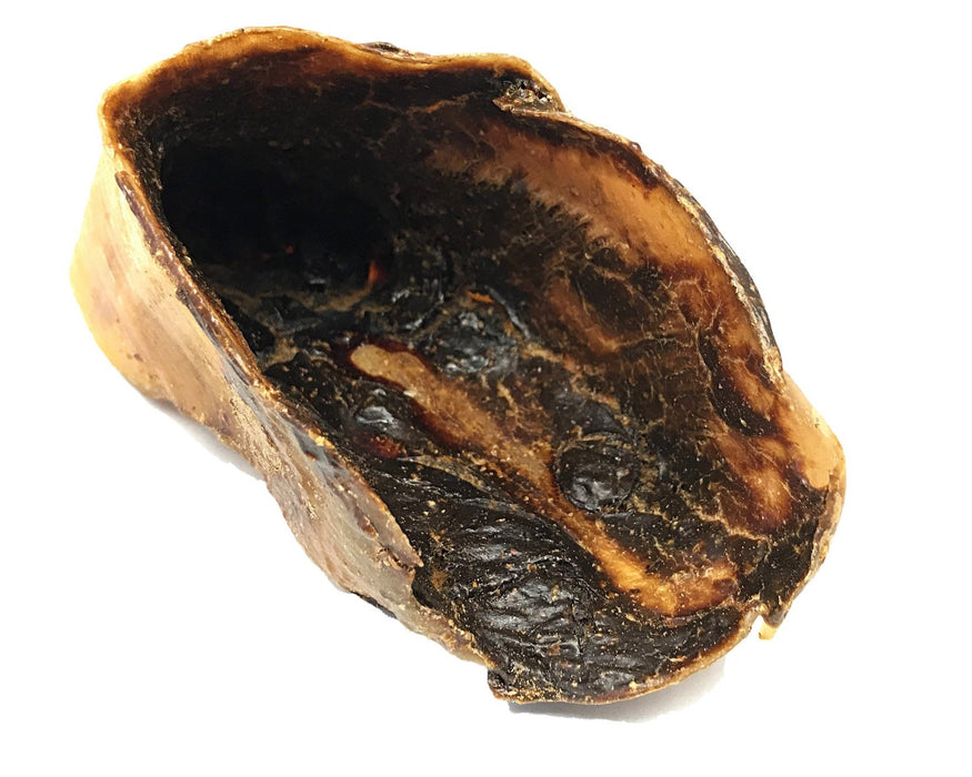 Look at all that beef liver gravy inside this beef cow hoof, suitable as a pet treat. Purchase online pet treats at snax.pet