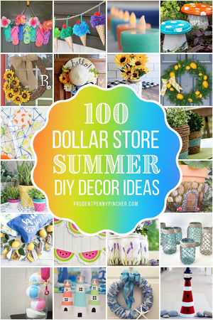 Add a splash of summer color to your home decor on a budget with these DIY dollar store summer decor ideas.