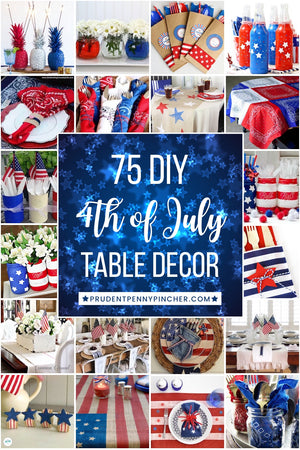 There are 4th of July Table Decorations for patriotic centerpieces, place settings, utensil holders, tablescapes and much more
