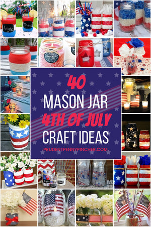 These mason jar 4th of July crafts can be used as centerpieces, lanterns, party decor, and much more!
