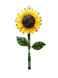 YK Decor Metal Sunflower Hook Wall Decor Key Holder, Bathroom Towel and Robe Hook, Decorative Large Single Hanging Hook Wall Coat Clothes Holder, Wall Mounted Sunflower Kitchen Decor Wall Decoration