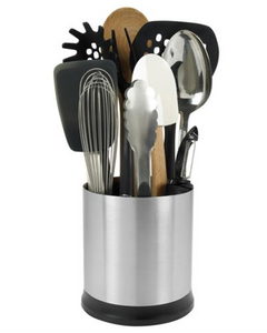 OXO Rotating Utensil Holder Stainless Steel