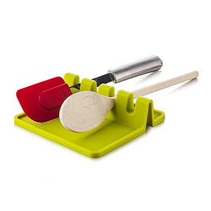 Silicone Material Kitchen Utensil Rest Holder Heat Resistant for Spoon Spatula