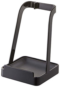 YAMAZAKI home 2249 Yamazaki Tower Ladle Holder-Lid Stand for Utensils in Kitchen, Black