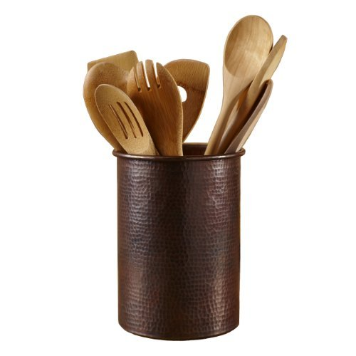 Native Trails Copper Utensil Holder, 7 Inch by 6 Inch by Native Trails
