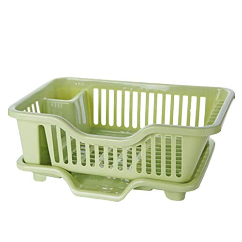 HMANE Draining Rack Dish Bowls Drying Storage Shelf Tableware Storage Rack Drain Holder Kitchen Utensils Organizer Holder Plastic - (Light Green)