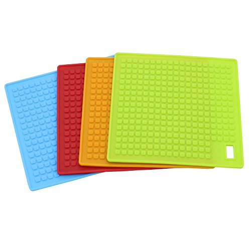 GF Pro Heat Resistant Silicone Kitchen Utensil! Pot Holders/Coaster/Trivets/Spoon Rest/Hot Pads (MatBlack)