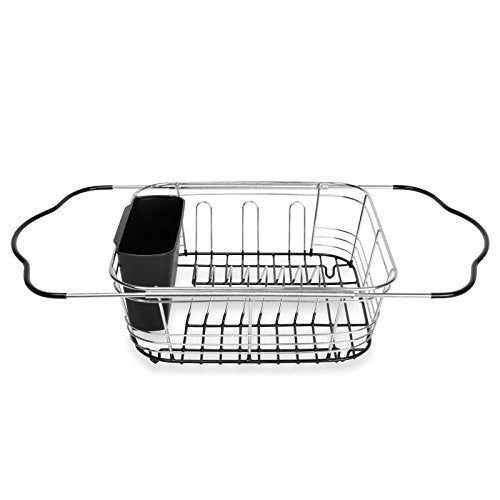 Expandable Dish Rack Drying Utensil Holder 3-in-1 in and Over the Sink by Kitchen Storage & Organization Product Accessories