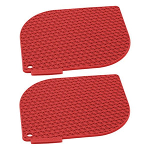 Charles Viancin Honeycomb Red Silicone Pot Holder, Set of 2