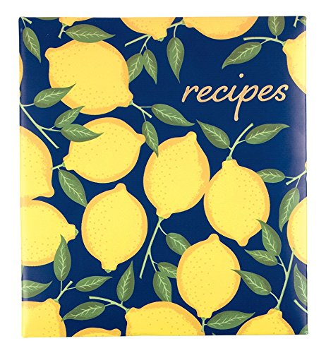 Eccolo World Traveler Recipe Keeper, Lemons, 9.5 x 8.5