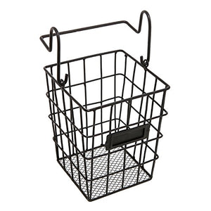 Modular Black Metal Mesh Wire Hanging Kitchen & Dining Utensils Storage Basket/Bathroom Toiletries Holder Basket