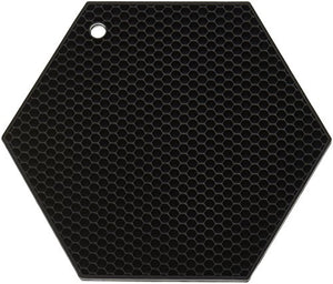 "Lamson HoneyComb HotSpot Pot Holder, 7"" x 7"", Black, Silicone"