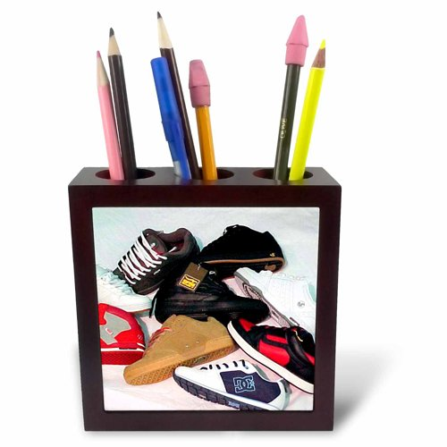 3dRose ph_2870_1 Skateboard Shoes-Tile Pen Holder, 5-Inch