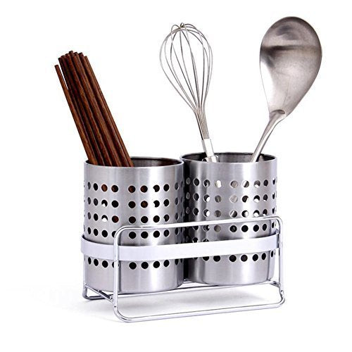 Kitchen Utensils Drying Rack, Stainless Steel Spoon Knife Fork Case Sink Basket Rack Organizer Storage Stand Holder,Shovel Chopsticks Fork Tableware Storage Organizer Trays Stand, Cutlery Drain Rack