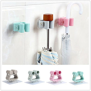 Broom and Mop Holder, Transer Broom & Mop Gripper Holder Clip Wall Mounted Organizer Tool for Rake or Mop Handles, Random Color, Pack of 1