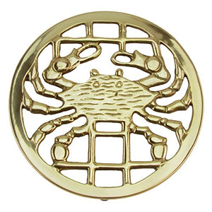 Solid Brass Crab Trivet Hot Stove Pot or Pan Holder