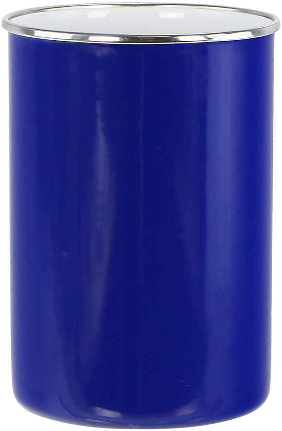 Calypso Basics by Reston Lloyd Enamel on Steel Utensil Holder, Indigo